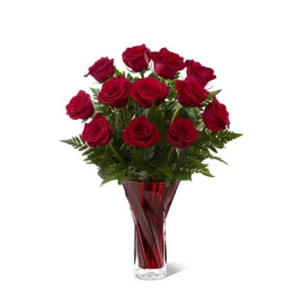 The FTD In Love with Red Roses Bouquet - Standard