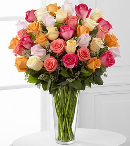 The Graceful Grandeur Rose Bouquet by FTD 36 Stems - VASE INCLUDED